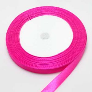 Satin ribbon, Magenta, 1cm x 21m, 1 piece, (SDD076)
